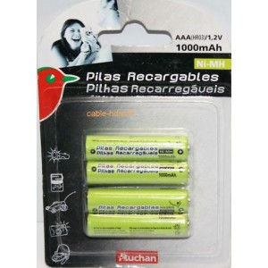 Piles rechargeables UNIROSS AAA 1000mAh Telephone (x4/x8)