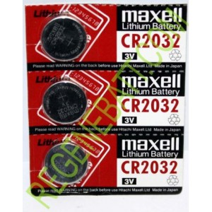 3x Piles bouton Lithium CR2032 3V Maxell