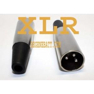Prise XLR mâle - Ergonomique - Micro - chargeur vélo