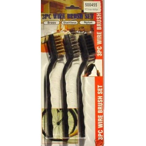 Mini brosses laiton inox nylon (x3)