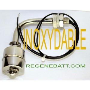 Capteur de niveau d'eau inox à flotteur angle droit HQ