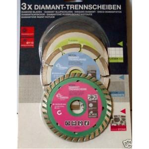 3x Disque Diamant SEGMENTE turbo continu 110mm