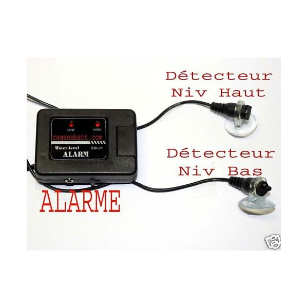 d tecteur de niveau d 39 eau alarme sonore et visuelle. Black Bedroom Furniture Sets. Home Design Ideas