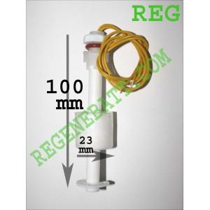 Capteur de niveau d'eau liquide flotteur horizontal Long 100mm D23