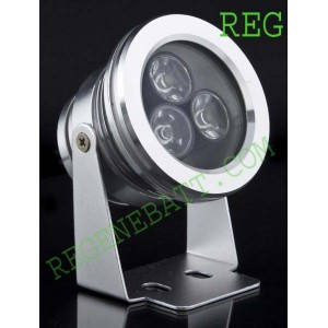 Projecteur 12v Led 3w waterproof alu ext