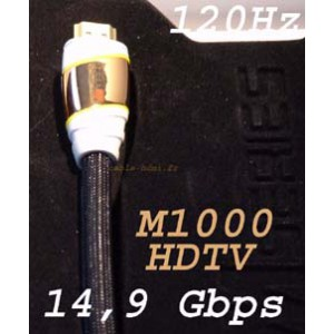 HDMI Monster Cable M1000HDTV 1.3 Blindé OR 1m22