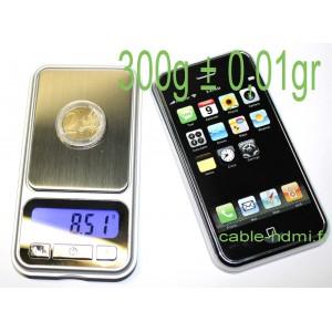 Balance electronique bijoutier bijoux 300g ± 0,01g