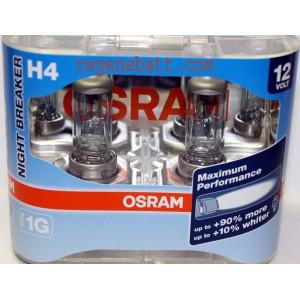 2x Ampoule H4 12V NIGHT BREAKER OSRAM Super Lumineuses